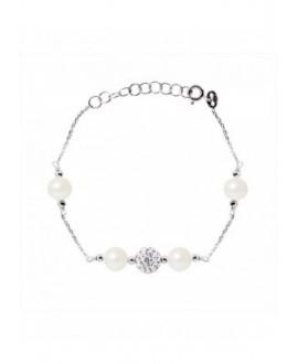 Bracelet Argent Véritables Perles