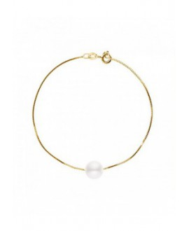 """Bracelet Chaine """"Vénitienne"""" Or Jaune Véritable Perle"""