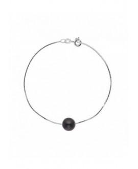 """Bracelet Chaine """"Vénitienne"""" Or Blanc Véritable Perle"""