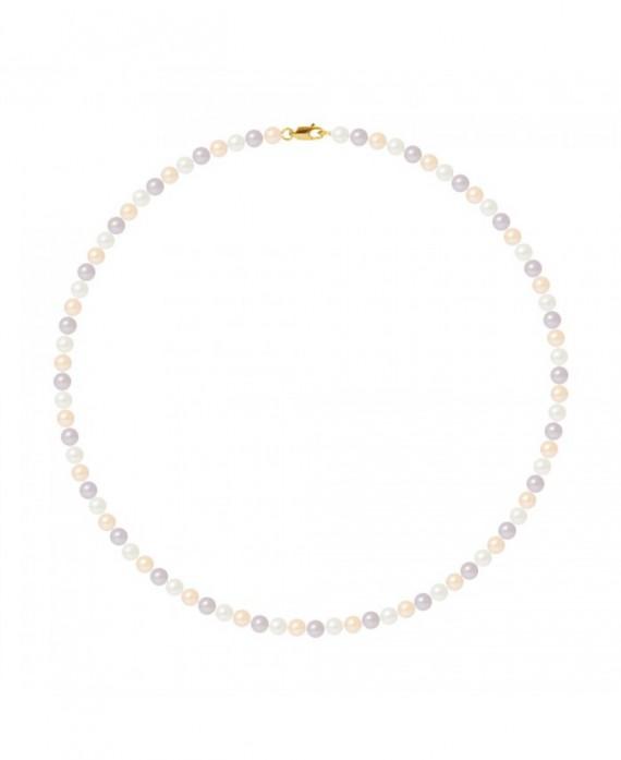Collier Rang de Véritables Perles & Fermoir Or Jaune