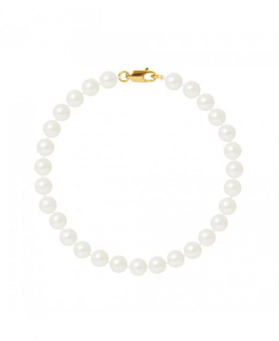 Bracelet Rang de Véritables Perles & Fermoir Or Jaune