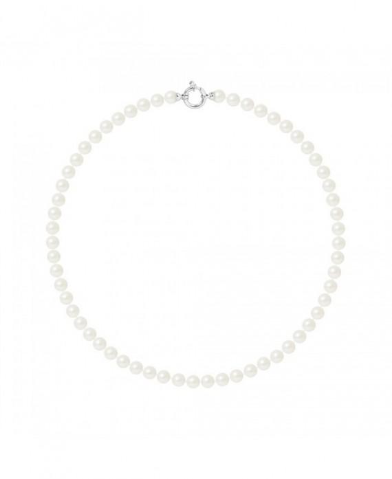 Collier Rang de Véritables Perles & Fermoir Or Blanc