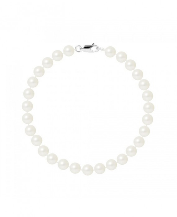 Bracelet Rang de Véritables Perles & Fermoir Or Blanc